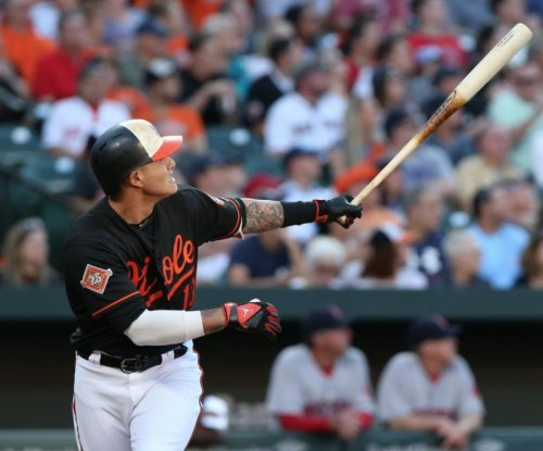 Baltimore Orioles' Manny Machado hits bomb into second deck at Camden Yards
