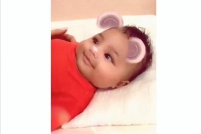 Kylie Jenner's daughter smiles in new Snapchat videos