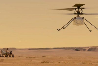 Mars helicopter begins to scout for Perseverance rover with longest flight