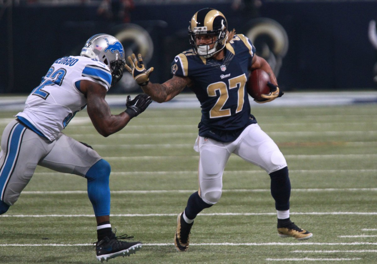 Wholesale NFL Jerseys cheap - Los Angeles Rams' AWOL RB Tre Mason admitted to hospital - UPI.com