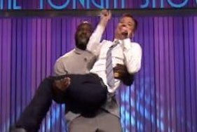 Jimmy Fallon and Shaquille O'Neal face off in Lip Sync Battle