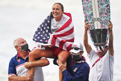 American surfer Carissa Moore wins gold in sport's Olympic debut