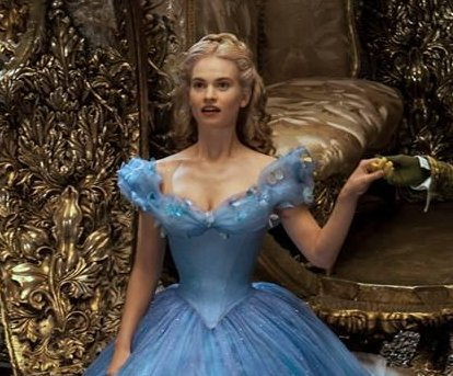 Lily James denies waist was Photoshopped for 'Cinderella'