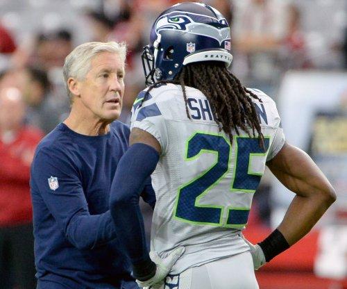 Seattle Seahawks' Pete Carroll meets with Richard Sherman about sideline distubance