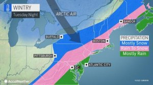 Arctic blast to usher in rapid freeze-up, snow potential in Northeast