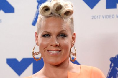 Pink accepts Video Vanguard Award at MTV VMAs