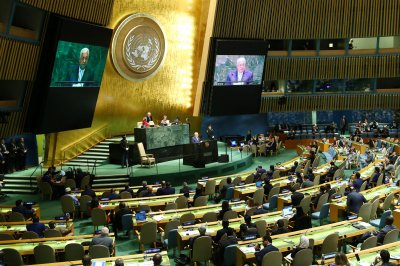 Watch live: Palestinian head Abbas, Israel's Katz, EU's Tusk to speak at U.N.