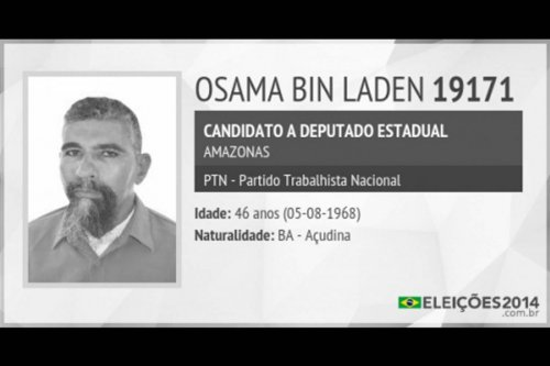 'Osama bin Laden' arrested for electoral fraud in Brazil