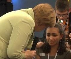 Merkel tells teary-eyed Palestinian girl some immigrants 'have to go back'