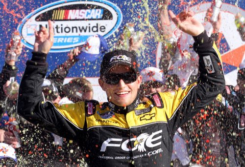 Buescher wins crash-filled Daytona race