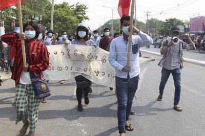 Myanmar junta kills at least 6 amid Internet shutdown