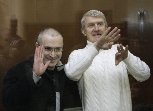 Pardoned Russian oil tycoon met by son in Germany