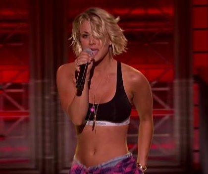 Kaley Cuoco performs to Ludacris on 'Lip Sync Battle'