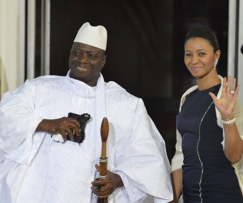 New Gambian president sworn in but incumbent won't leave