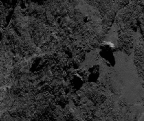 Rosetta spots balancing rock on Comet 67P