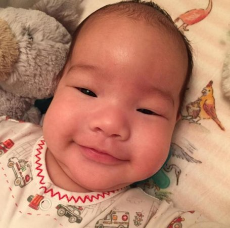 Lucy Liu shares photos of newborn son Rockwell on Instagram
