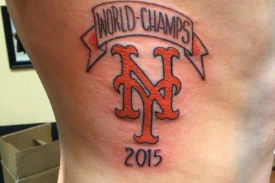 Mets fan doesn't regret premature '2015 World Champs' tattoo