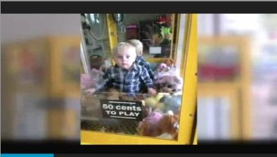 Toddler rescued from claw machine at laundromat