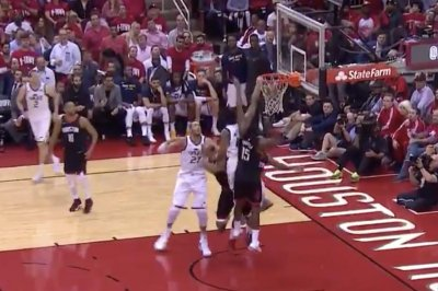 Jazz's Donovan Mitchell throws down nasty put-back dunk vs. Rockets