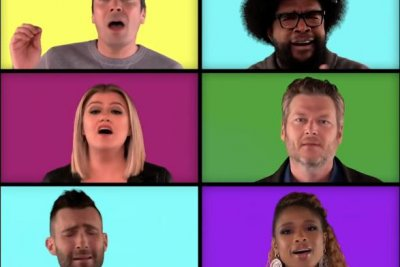 'The Voice' coaches sing a mashup of their hits with Jimmy Fallon