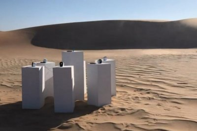 'Africa' by Toto playing on a loop in African desert