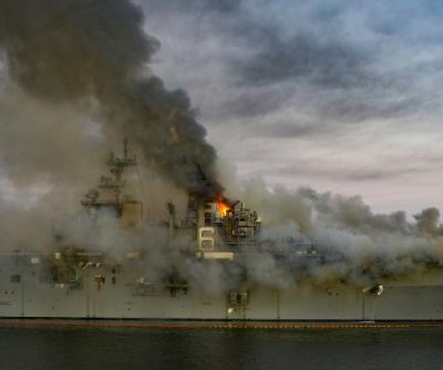 Dozens injured as Navy ship USS Bonhomme Richard continues to burn in San Diego