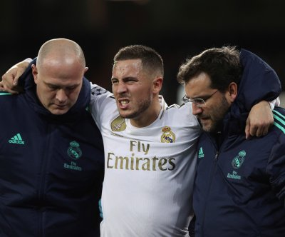 Real Madrid's Eden Hazard breaks ankle, likely out for season