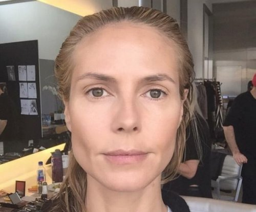 Heidi Klum shares before and after makeup photos