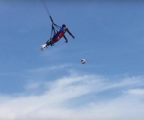 Watch: Harlem Globetrotters swish shot from 110 feet in the air