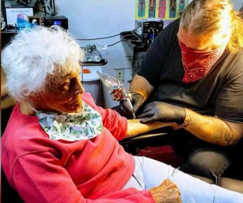 Woman celebrates 103rd birthday by getting first tattoo