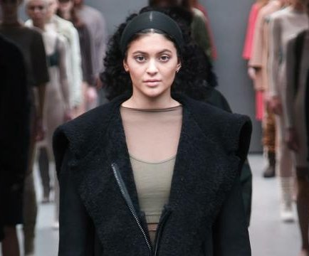 Kylie Jenner models for Kanye West at New York Fashion Week