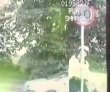 Traffic police roast officer caught walking into sign