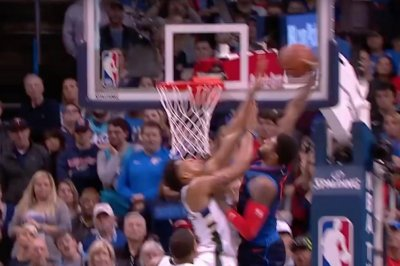 Thunder's Paul George puts Greek Freak on a poster