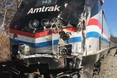 Amtrak train carrying GOP lawmakers hits garbage truck; 1 dead