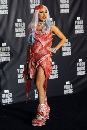 'Meat dress' re-created with prime cuts