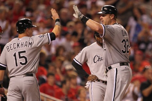 Adam Dunn nearly hits batter during pitching debut