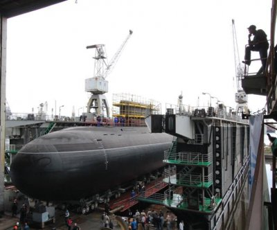 New Russian submarine launched