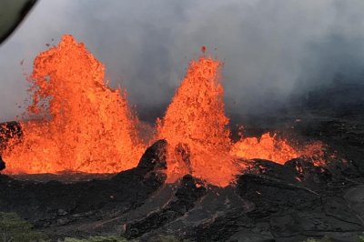 Lava from Hawaii's Kilauea Volcano nears power plant