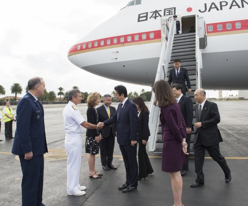 Japanese prime minister arrives in Hawaii, lays wreath at Pearl Harbor
