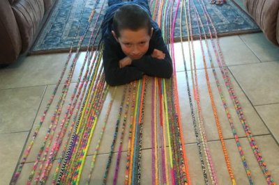 10-year-old's 6,292-foot loom band bracelet breaks Guinness record