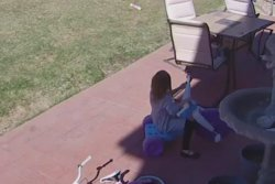 Girl, 5, wins staring contest with bobcat in Colorado yard