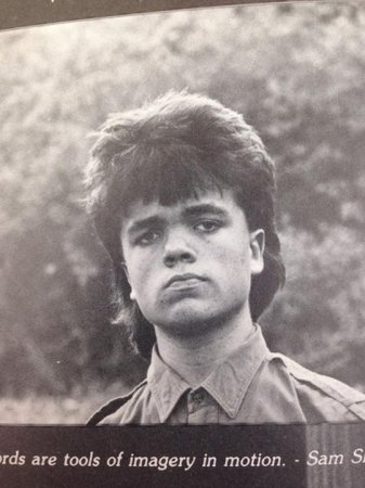 Peter Dinklage had a mullet in high school