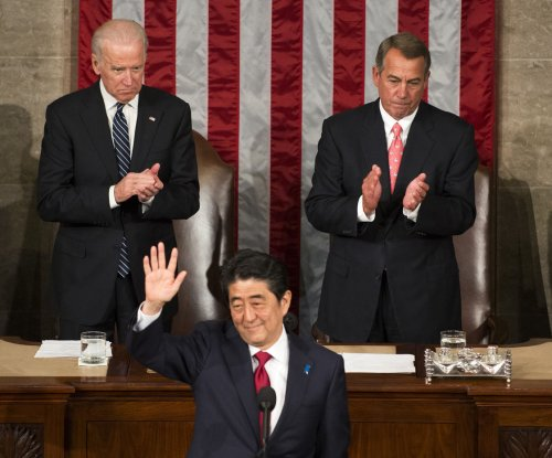 Japanese prime minister spotlights new defense pact before Congress