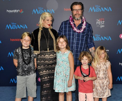 Tori Spelling celebrates four months with newborn Beau on Instagram