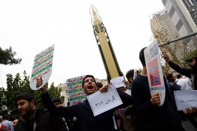 Iran shows off missile to mark 38th anniversary of U.S. Embassy takeover