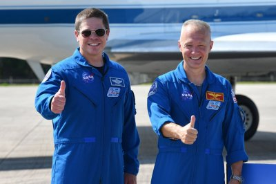 Astronauts land in Florida ahead of historic launch to space station