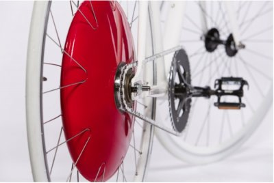 Motorized bicycle wheel said to give 20 mph speed, range of 30 miles