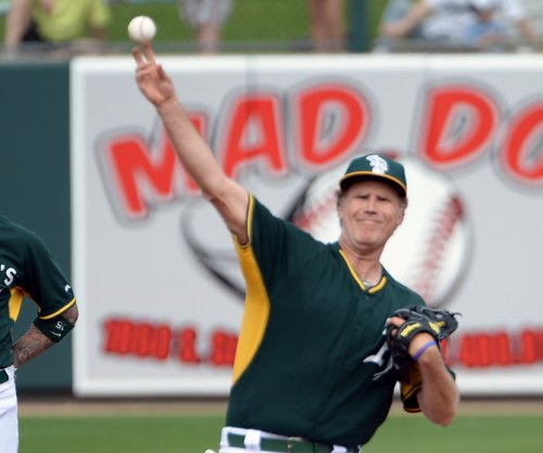 Will Ferrell plays for Athletics, Mariners in spring training game