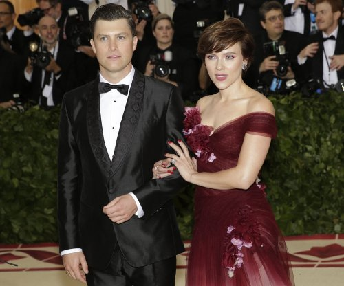 Scarlett Johansson, Colin Jost cozy up at Met Gala