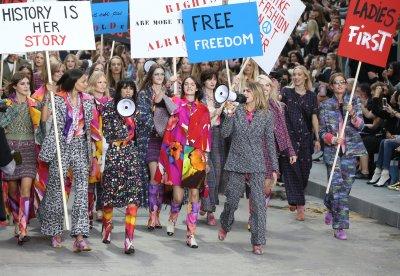 Gisele Bundchen, Kendall Jenner, Cara Delevingne march at Chanel's feminist rally